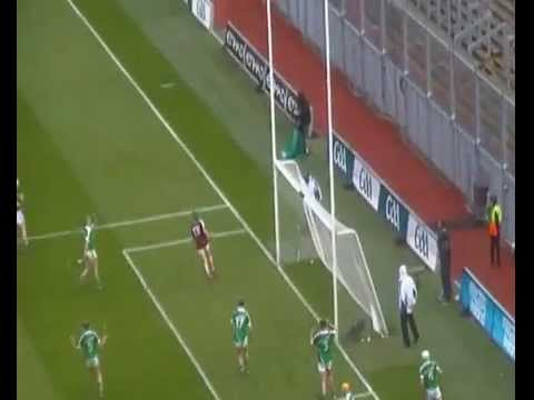 Conor Whelan scores a goal for Galway