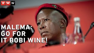 EFF leader Julius Malema offered some words of encouragement to Bobi Wine who is vying to be Uganda's next president. Wine is going up against Yoweri Museveni, who has been president of Uganda since 1986. Malema was speaking at a press briefing on 14 January 2021