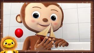 Row Row Row Your Boat!   Nursery Rhymes & Kids Songs!   Videos For Kids   Animal FURRENZY!