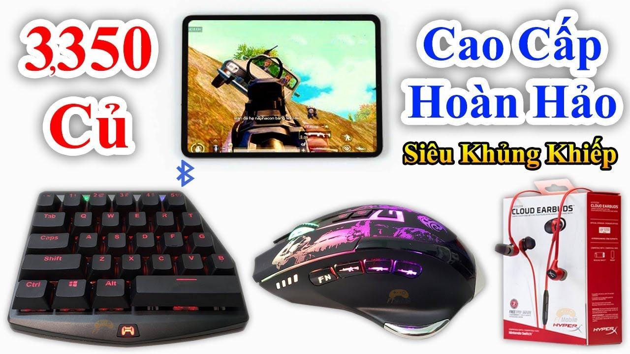 Chuột Tự Ghìm Tâm – Tai Nghe Hack Wall – Phím Cơ HandJoy K3 – Bộ Chơi Game PUBG Mobile Cao Cấp