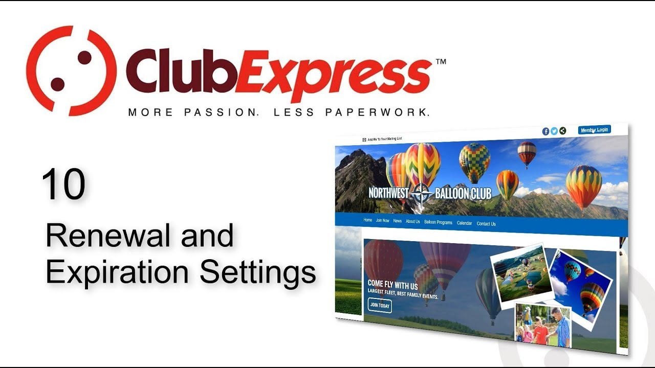 ClubExpress - 10 Renewal and Expiration Settings