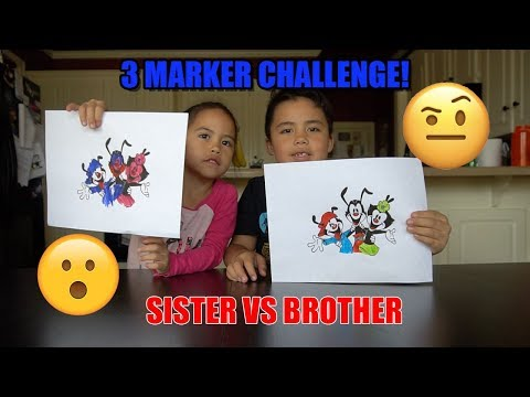 3 Marker Challenge! Animaniacs, Bendy, & Mickey Mouse!