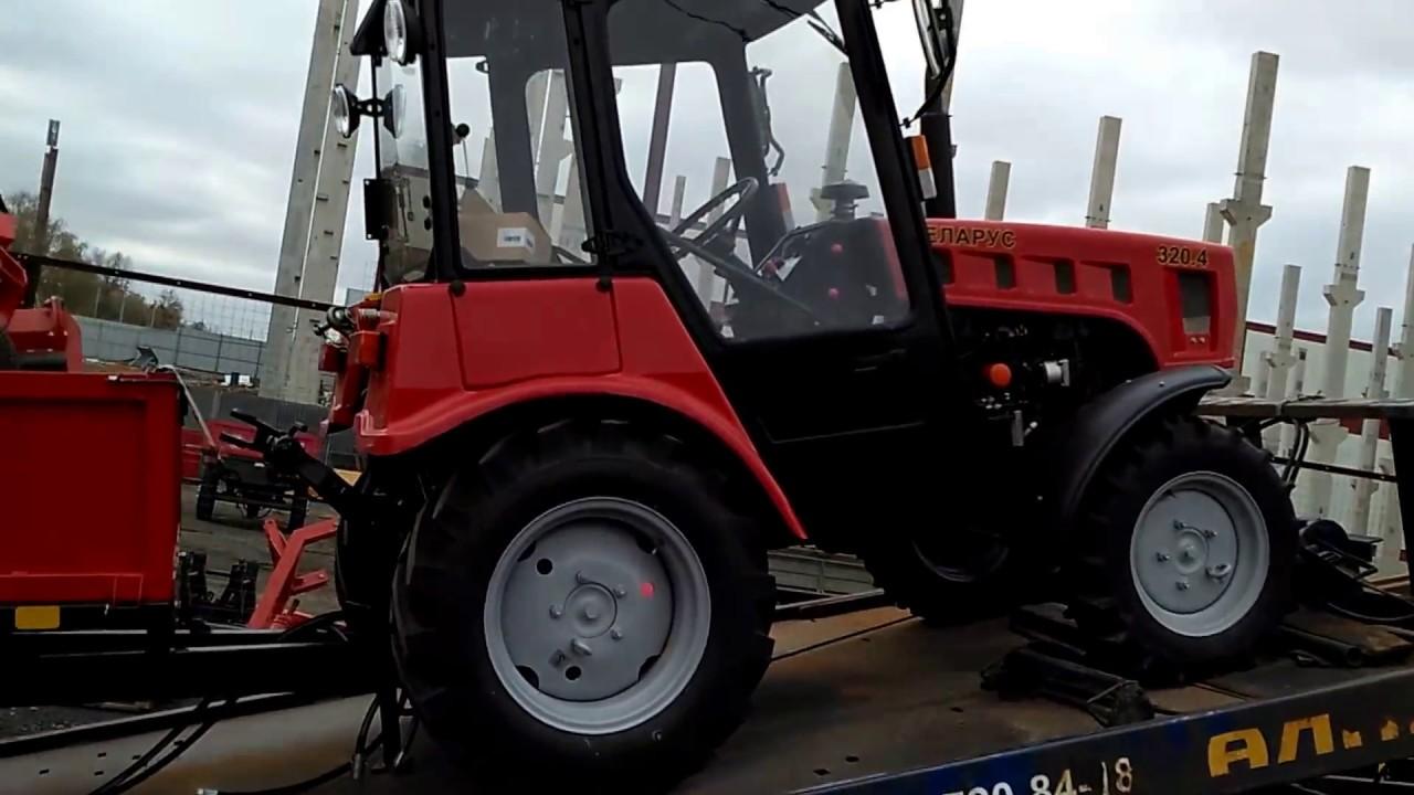 Погрузка трактора мтз 320 4 - YouTube