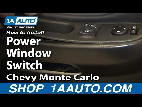 How To Install Replace Power Window Switch 2000-05 Chevy Monte Carlo