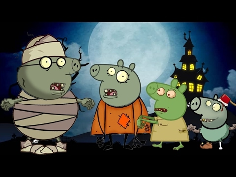 Peppa Pig Zombie Coloring Pages Learn Colors Youtube