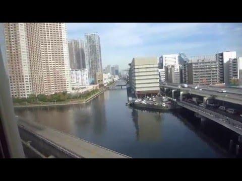 Tokyo, Japan - Tokyo Monorail - Tennōzu Isle to Hamamatsuchō HD (2015)