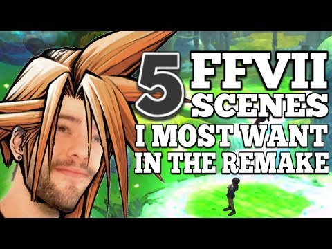 TOP 5 SCENES in the Final Fantasy VII Remake I am most hype to see