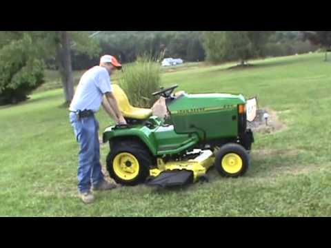 2001 John Deere 425 Lawn And Garden Tractor Mower For Sale Youtube