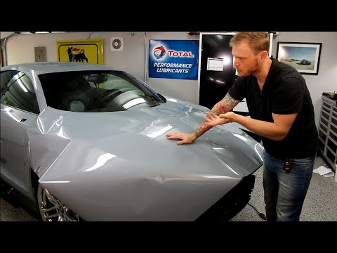 MASSIVE Hood Vinyl Wrap The AMMONYC Audi R8 Being Wrapped In Gloss Nardo Grey