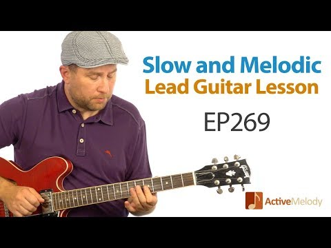 Learn an slow and melodic guitar lead - blues and country licks - Easy guitar lesson - EP269