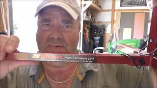 MoJack Push Mower Lift Model #35007 Review By KVUSMC