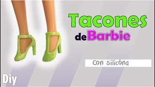 COMO HACER TACONES PARA BARBIE DE SILICONA✴️how to make shoes barbies