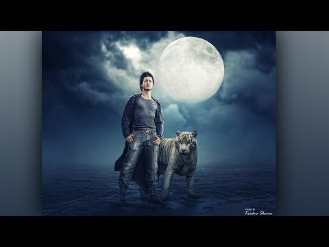 White Tiger Photoshop Photo Manipulation || Tiger Lover ||  Photoshop Tutorial
