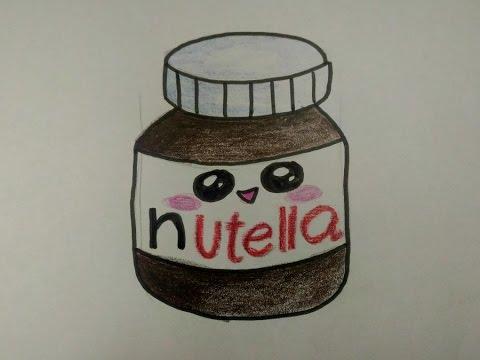 desenhos faceis de desenhar como desenhar nutella fofa youtube