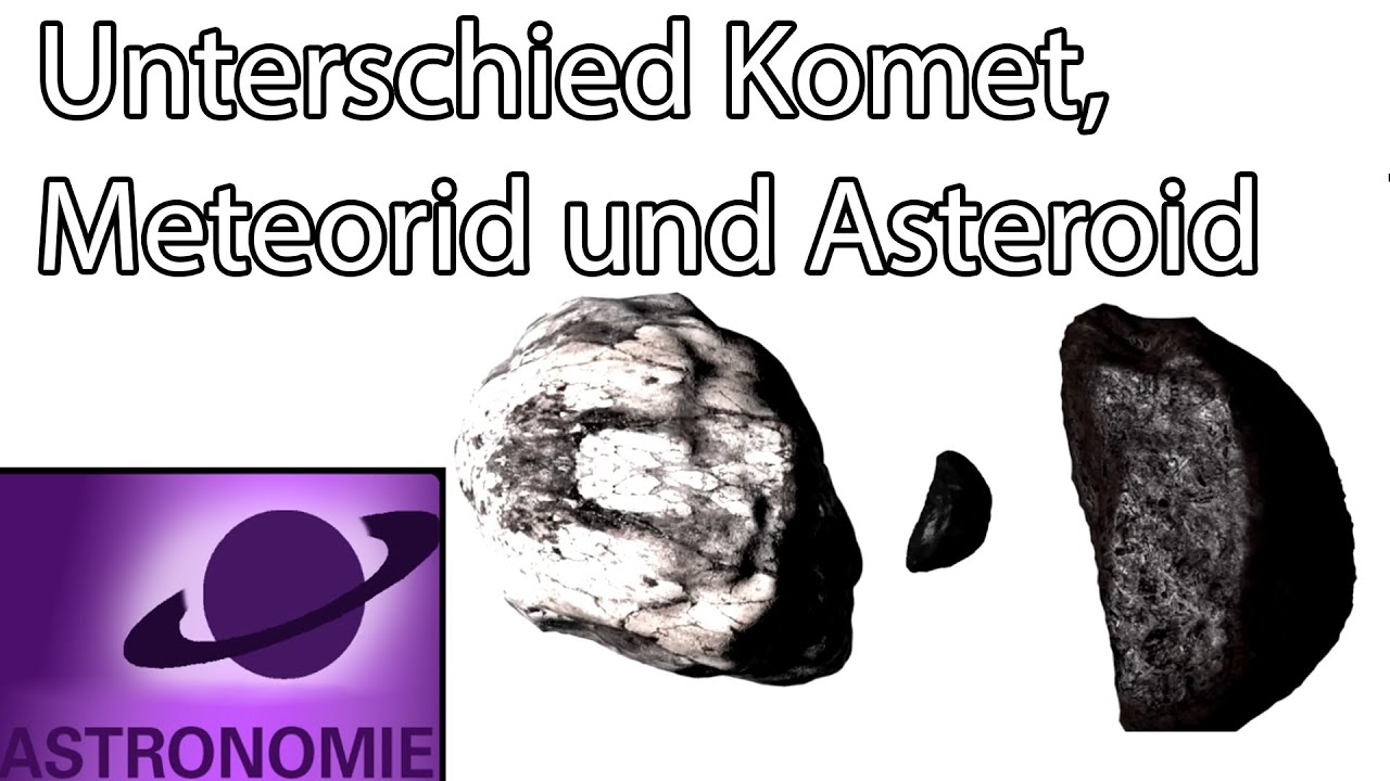 Meteorit Asteroid Unterschied