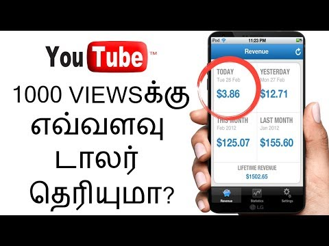 How Many Dollars Per 1000 Views on Youtube (Tamil)