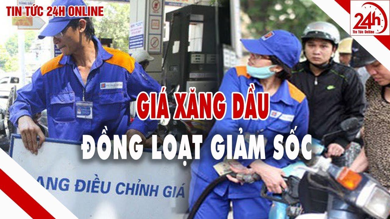 Giá xăng dầu đồng loạt giảm sốc | Giá xăng dầu hôm nay | Tin tức Việt Nam mới nhất | TT24h