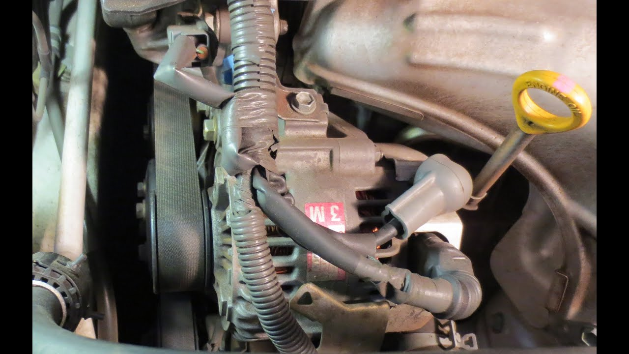 small resolution of belt and alternator removal 2002 camry le 4cyl