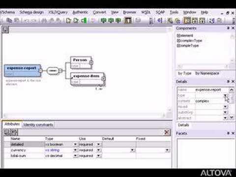 Altova XMLSpy - XML Schema Editor