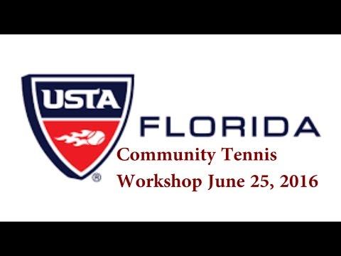 USTA FL Tennis community workshop Tampa 2016