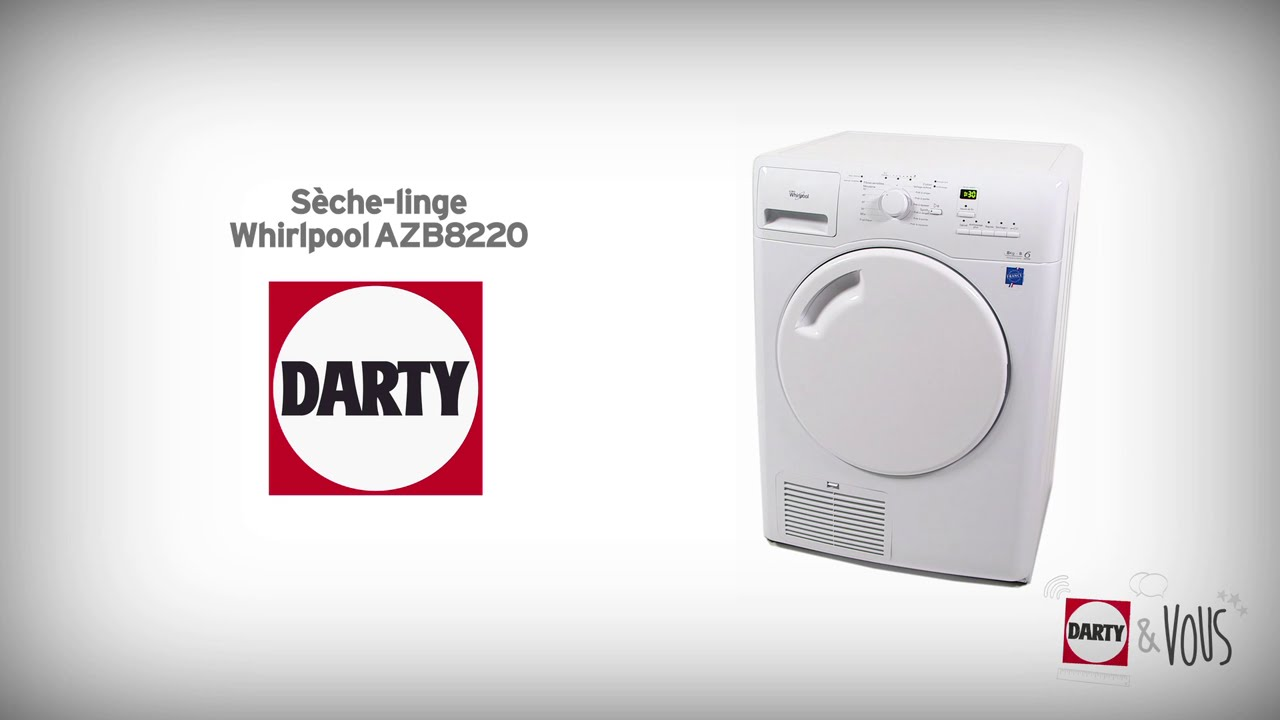 s che linge whirlpool azb8220 d monstration darty youtube