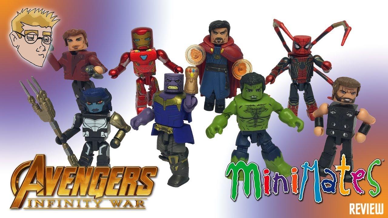 Marvel Minimates AVENGERS INFINITY WAR Thor Hulk Thanos Walgreens Exclusive Set
