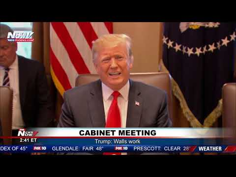 FULL CABINET MEETING: President Trump Extensively Discussing Immigration, Border Wall
