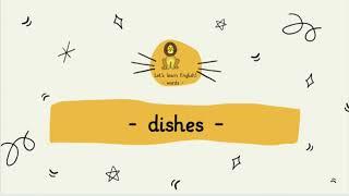 Englisch in der Grundschule: dishes (words)