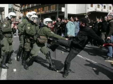 Greek riots 2011 and IMF control of the world
