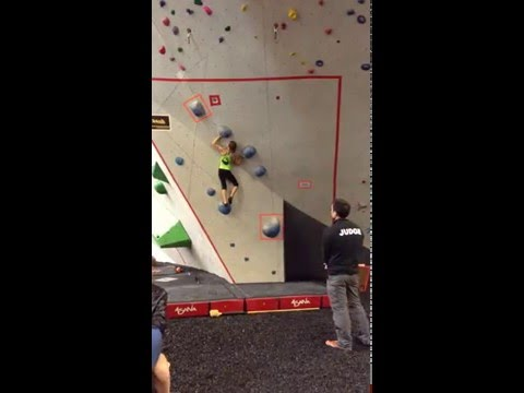 USAC Bouldering Divisionals - Finals Prob#1 - Female Youth C