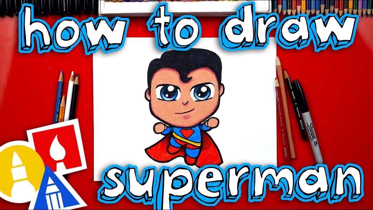 How To Draw Cartoon Superman Youtube
