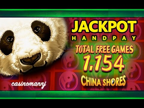 *JACKPOT HANDPAY* - CHINA SHORES SLOT - 1,154 FREE SPINS! - MEGA HUGE WIN! - Slot Machine Bonus - 동영상