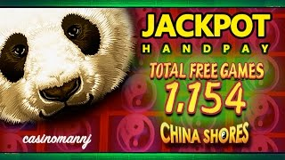 *JACKPOT HANDPAY* - CHINA SHORES SLOT - 1,154 FREE SPINS! - MEGA HUGE WIN! - Slot Machine Bonus