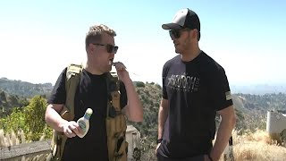 Chris Pratt And James Corden Go On A Goofy Hike In Hollywood Hills