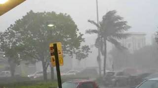 Violent Thunderstorm on Miami Beach - 80mph Wind Gusts, Close Lightning, Flooding - June 5, 2009
