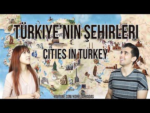 Türkiye'nin şehirleri/Cities in Turkey/터키 도시들