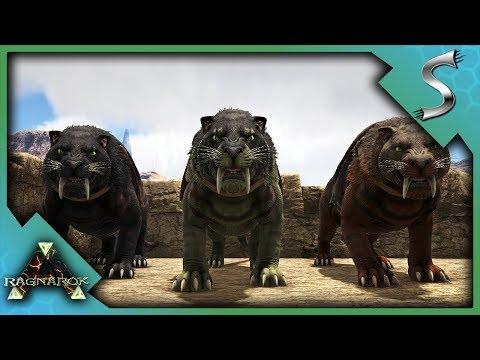 HIGHLEVEL SABERTOOTH PACK TAMING! - Ark: RAGNAROK [DLC Gameplay S3E9]
