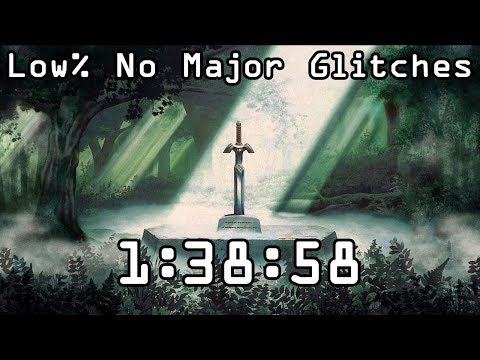 The Legend of Zelda - A Link to the Past Low% No Major Glitches in 1:38:58