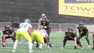 Towson Tigers Top 10 Moments 2015-2016: #8 Football shuts out Delaware 19-0