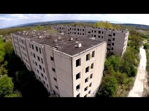 Drone in the Ghost Town - Urban Exploration