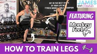 How To Train Legs    Monkey Feet Leg Workout    Monkey Feet Workout Demonstration   Dumbbell Workout
