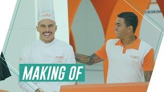 Making of: O elenco do Palmeiras no comercial da FAM