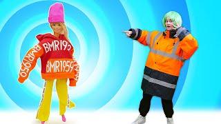 Одевалки игры для девочек Кукла БАРБИ сменила имидж Игры макияж и причёска с Barbie Doll