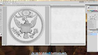 How to make a pressed seal in Photoshop CS5