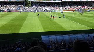 SV Sandhausen - Hamburger SV Einlauf ( 12.08.18 )