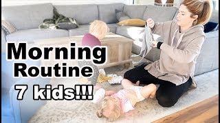 Winter Morning Routine \\ Homeschooling Mom of 7