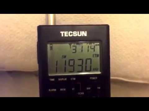 Radio Marti 11930 KHz Greenville USA, great DX catch on the Tecsun PL-360