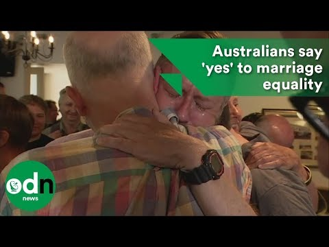 Australians say 'yes' to marriage equality