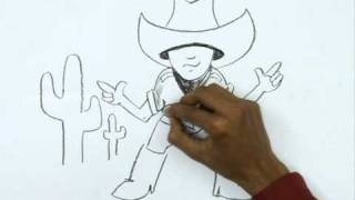 How to Draw a Little Cowboy