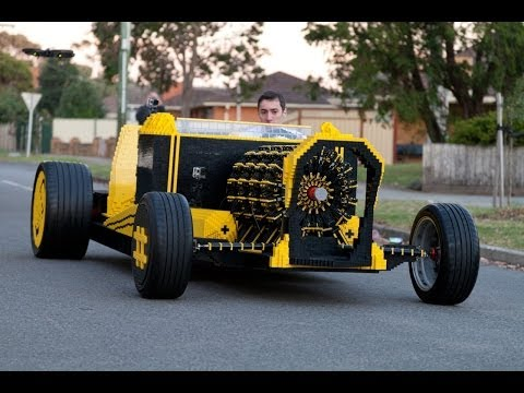 You Ain't Cool Unless You Drive a Life-Sized, Air-Powered Lego Hot Rod